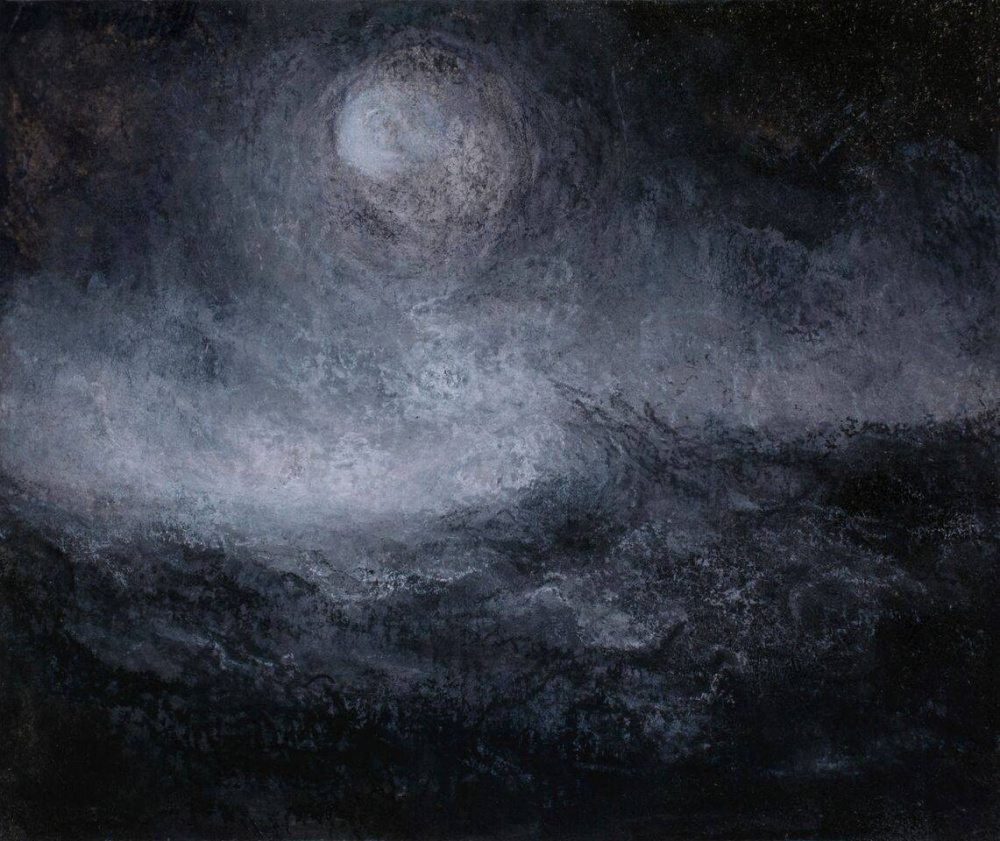"""""""Turbulence 2"""" ink, charcoal and chalk"""