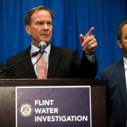 Michigan Attorney General Bill Schuette announces Friday six more state employees have been charged in connection to the Flint water crisis. A total of nine people have been charged in connection with the city's lead contamination problem.