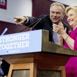 Hillary Clinton and Tim Kaine spoke Friday at Temple University in Philadelphia where they cast Donald Trump as a con artist.