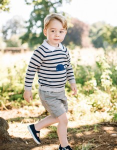 Recent but undated handout photo issued on Friday July 22, 2016 by William and Kate, the Duke and Duchess of Cambridge, of Britain's Prince George at Sandringham in Norfolk, England.