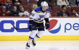 Former St. Louis Blues forward David Backes signed with the Bruins on Friday. Associated Press/Ross D. Franklin
