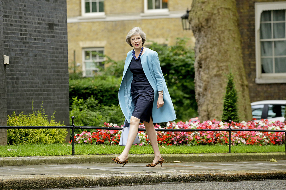 British Home Secretary Theresa May arrives for a cabinet meeting at 10 Downing Street on June 27, 2016. Associated Press