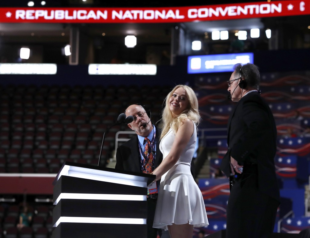 Tiffany Trump, daughter of presidential candidate Donald Trump, will give a speech at the Republican National Convention on Tuesday night.    Associated Press/Carolyn Kaster