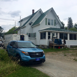 One person died and two others were taken to Central Maine Medical Center after an incident Thursday at this home in Rangeley. Rachel Ohm/Morning Sentinel