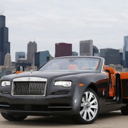 The Rolls Royce Dawn in Chicago in May.