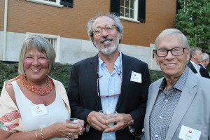 Portland Museum of Art's Directors Circle Second Annual Summer Lawn Party was attended by Sheila Clark-Edmunds and her husband, Peter, right, of Kennebunk, along with Richard Perry, center, of Cape Porpoise.