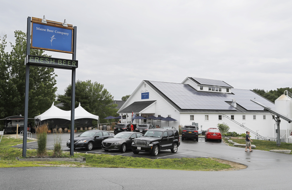 Maine Beer Co. in Freeport is planning an expansion to quadruple its production capacity and enlarge its tasting room. In a proposal submitted to the town, the company said the expansion is needed to meet demand for its beers, which have gained a national reputation. Joel Page/Staff Photographer