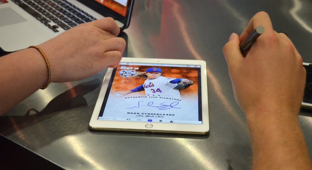 With digital apps, it takes just minutes for Topps to release new cards after big plays, decisive victories or trades.