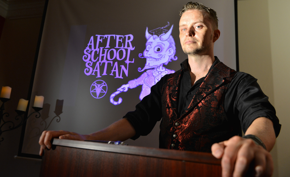 The Washington Post/Josh Reynolds Doug Mesner of the Satanic Temple says children should get a choice in how they think. His group doesn't promote worship of the devil, but rather rejects supernaturalism and promotes reasoning and social skills in its proposed curriculum.