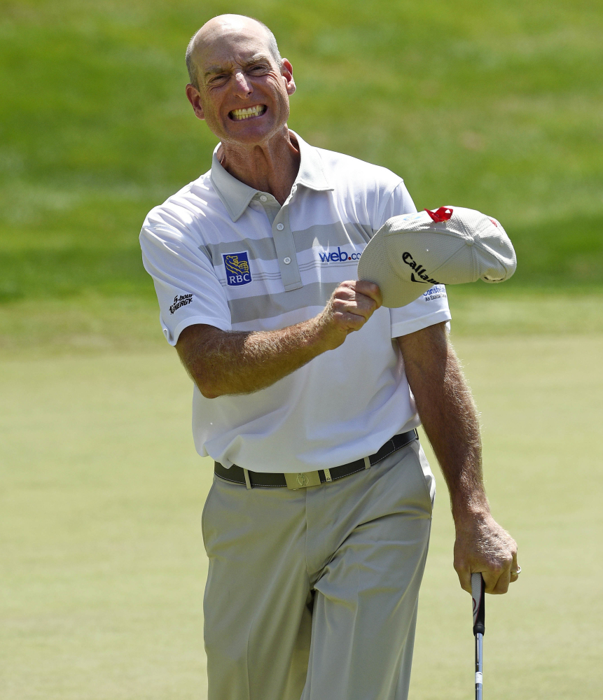 Jim Furyk set the PGA Tour record with a 58 in the final round of the Travelers Championship on Sunday in Cromwell, Conn.