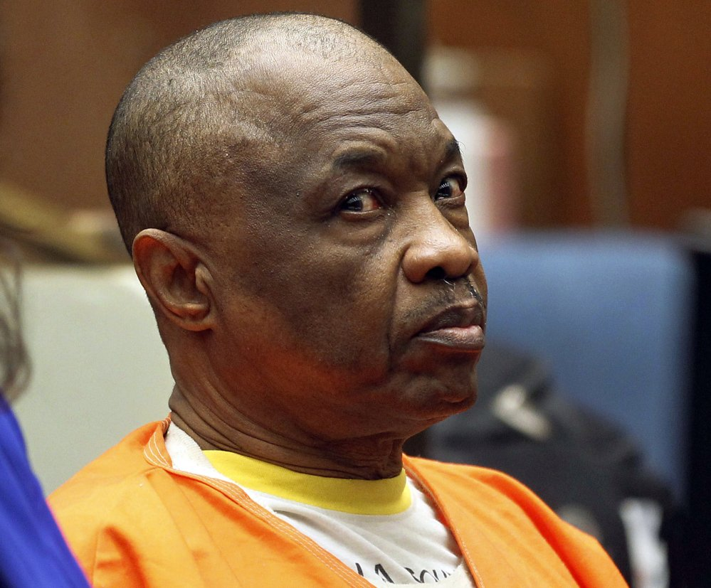 """Lonnie Franklin Jr., who has been dubbed the """"Grim Sleeper"""" serial killer, is shown during a court hearing last year."""