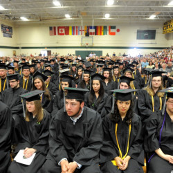 Unity College's class of 2015 attends its commencement ceremonies in May. The college expects this fall's class to be its biggest ever.