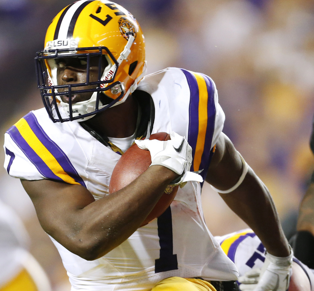 LSU's Leonard Fournette rushed for 1,953 yards and 22 TDs last season. He was one of the five running backs with over 1,800 yards.