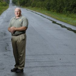 """Standing on North Dexter Road in Parkman – the scene of a car crash that claimed two young lives July 30 – Bob Young, the Piscataquis County sheriff's chief deputy, used Facebook to describe the difficulty of notifying the next of kin. """"There is no good way,"""" he said, """"no perfect words."""""""