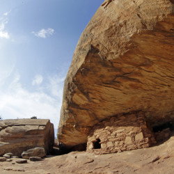 "A coalition of American Indian tribes and environmentalists want President Barack Obama to designate as a national monument an estimated 100,000 archaeological sites within a 1.9-million acre area of Utah's red rock country – including these ""House on Fire"" Anasazi Indian ruins near Blanding, Utah."