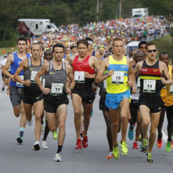 Runners compete in the 2016 TD Beach to Beacon 10K in Cape Elizabeth on Aug. 6. The race organization took in $926,967 in revenue in 2014 and gave just 0.59 percent to charity.