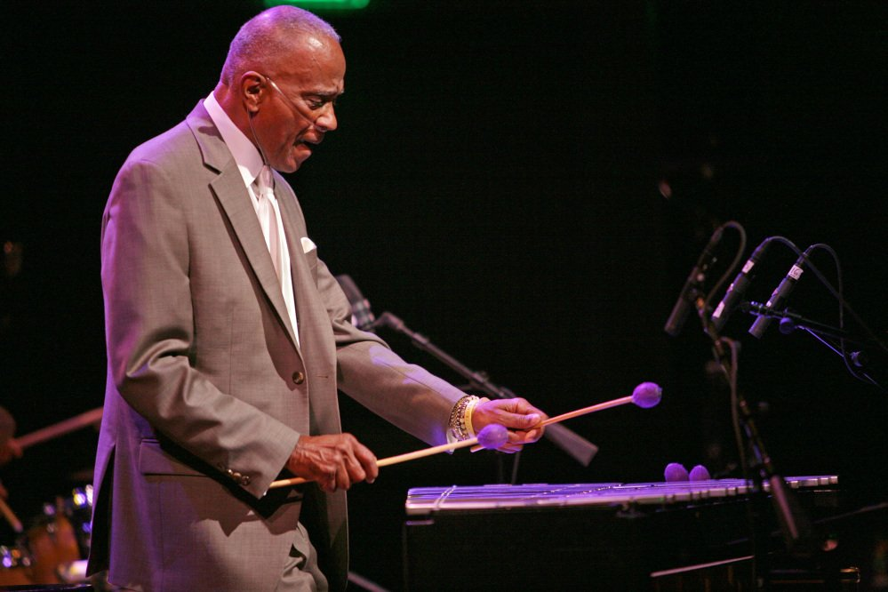 Jazz vibrophonist Bobby Hutcherson, shown performing in San Francisco in 2013, played with such greats as Herbie Hancock, Sonny Rollins and Dexter Gordon.