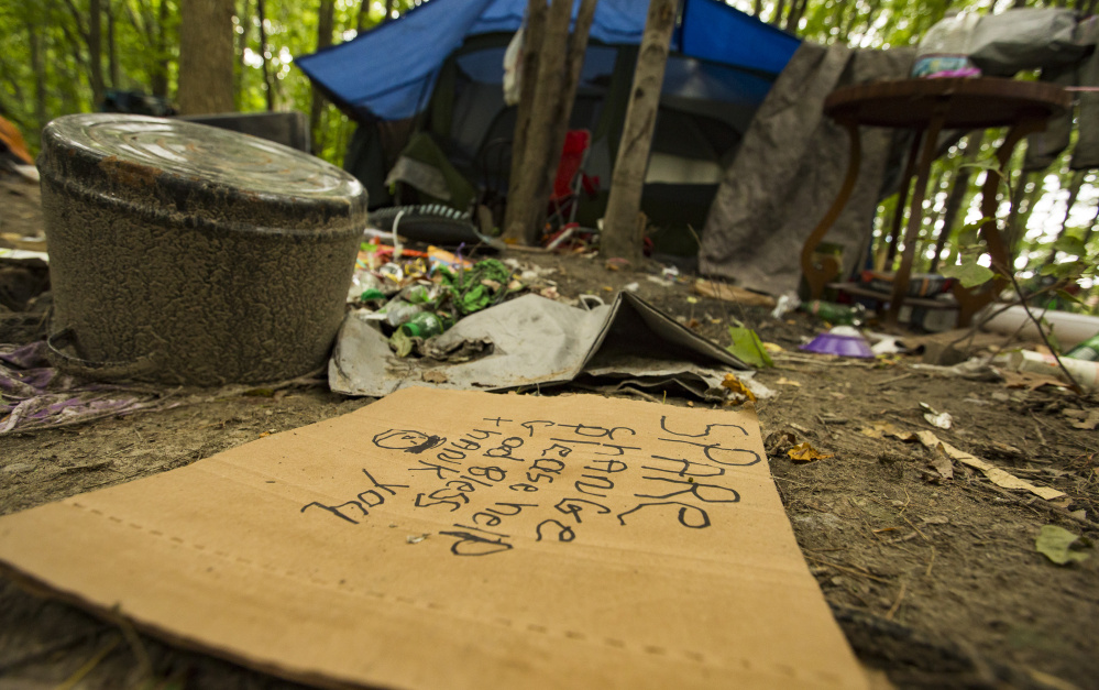 Maine Auto Mall >> Homeless inhabitants of Portland's 'Tent City' told to ...