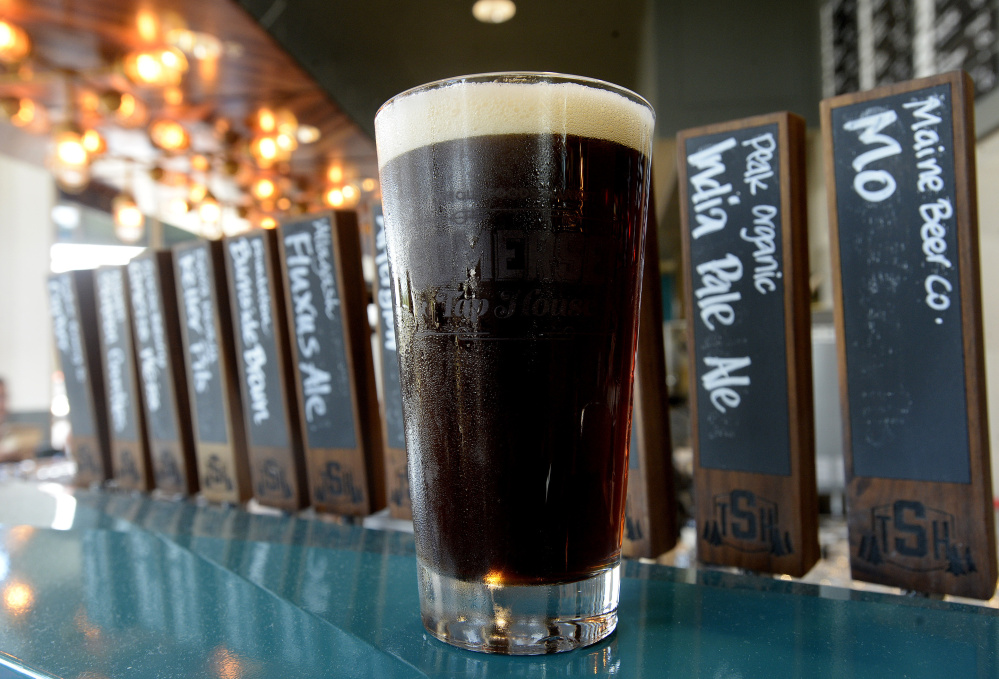 Burnside Brown Ale is among a rich selection of local brews.
