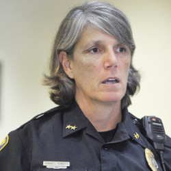 Westbrook Police Chief Janine Roberts pledges that police will take the steps needed to protect local Muslim families who received threatening notes.