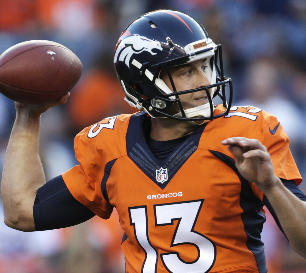 Trevor Siemian will start the Broncos' third preseason game as Denver continues its search for a replacement for Peyton Manning.