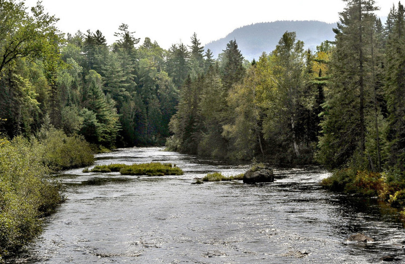 The Seboeis River flows through land owned by Elliotsville Plantation Inc., the Roxanne Quimby foundation that donated 87,654 acres of wild lands east of Maine's Baxter State Park for a national monument.