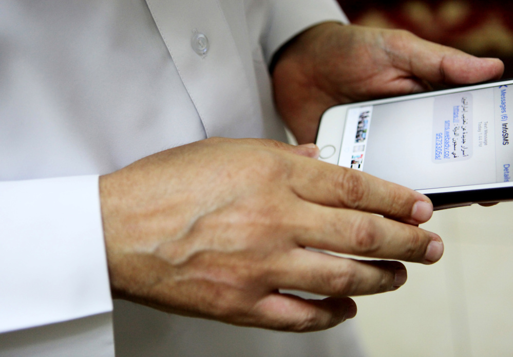Ahmed Mansoor, a well-known human rights defender in the Mideast, first alerted a smartphone security company to the spyware after getting an unusual text message Aug. 10.