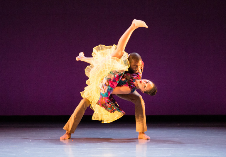 BalletX dancers William Cannon and Caili Quan perform in
