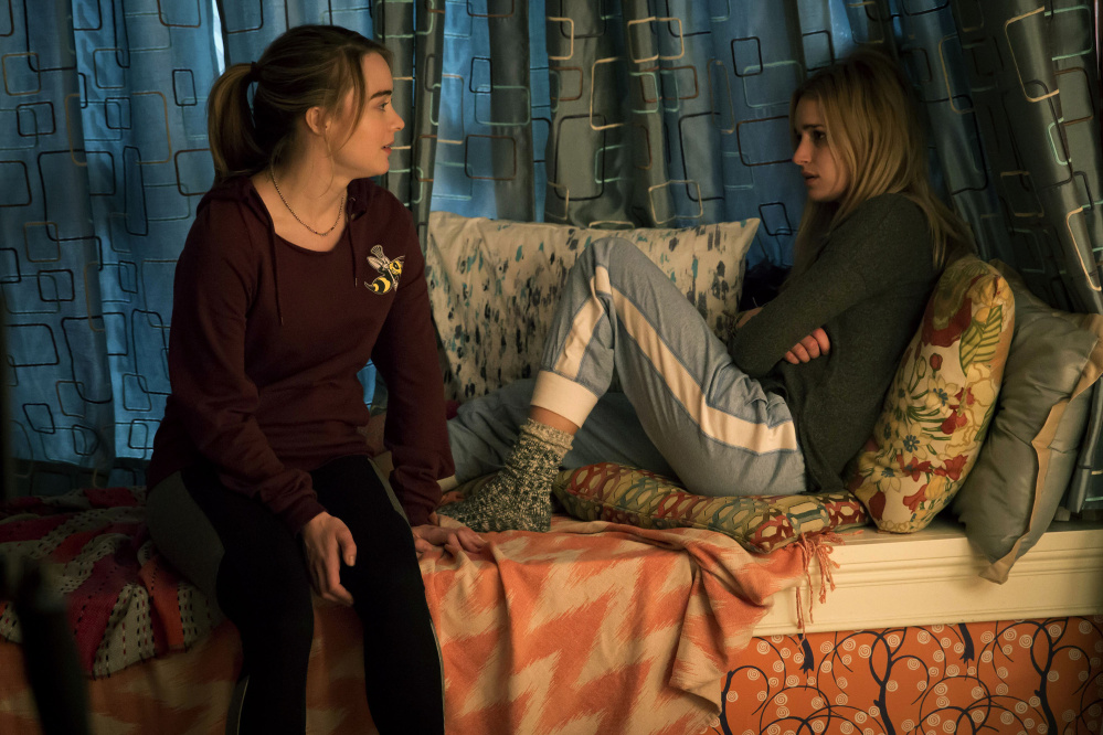 "Hannah Kasulk, left, and Brianne Howey in ""The Exorcist,"" premiering on Fox."