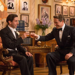 """Simon Helberg and Hugh Grant in """"Florence Foster Jenkins."""" (BBC Films)"""