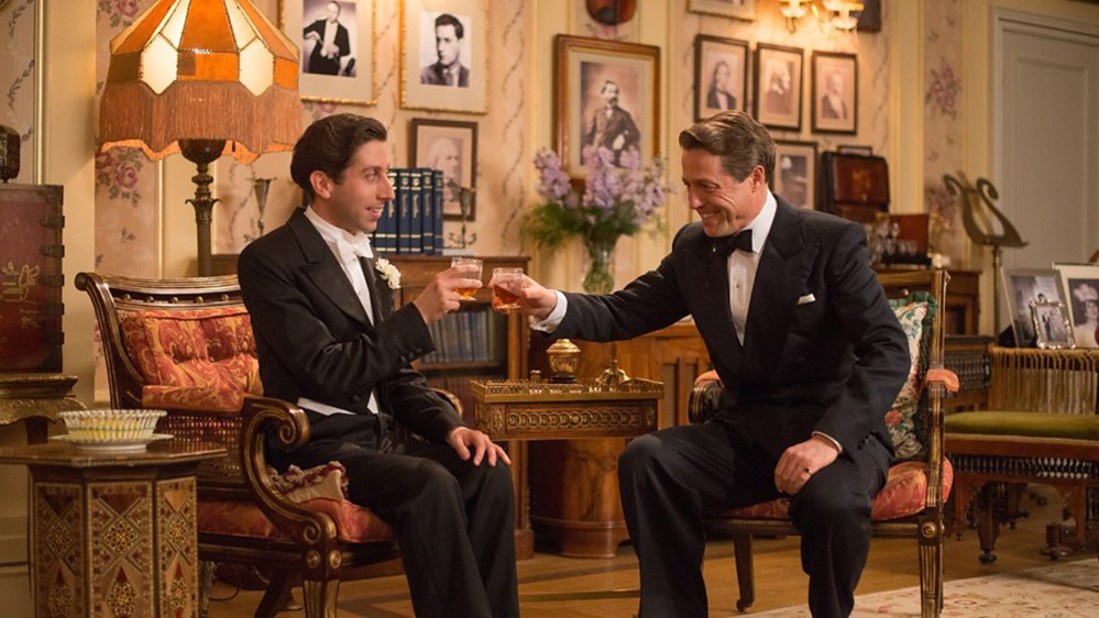"Simon Helberg and Hugh Grant in ""Florence Foster Jenkins."" (BBC Films)"