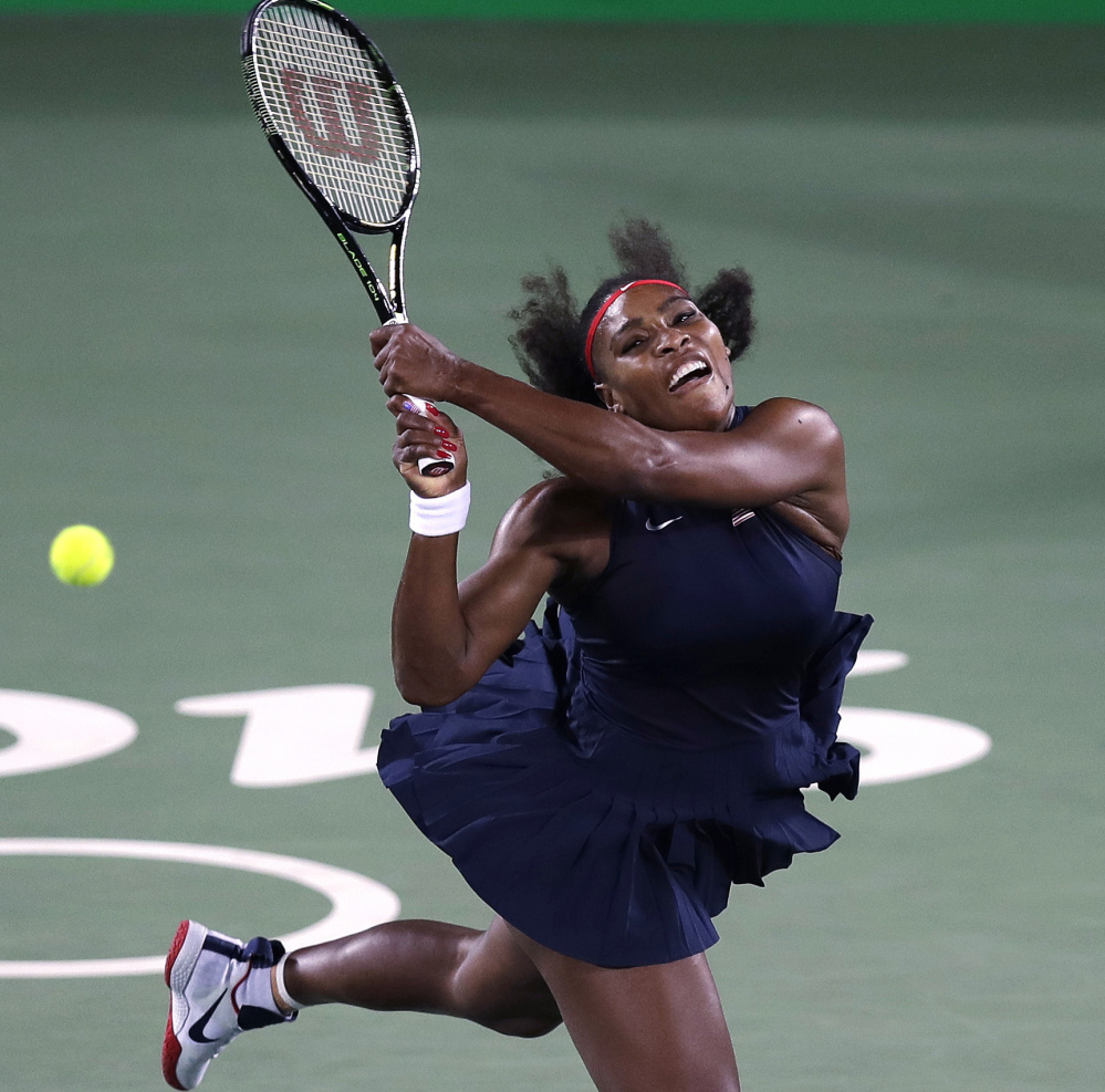 Serena Williams has been nursing a sore shoulder since she won Wimbledon in early July for her 22nd grand slam singles title and hasn't played a match since the Olympics.