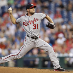 Nationals starter Max Scherzer was perfect through four innings and finished with 11 strikeouts in eight innings in Washington's 3-2 win at Philadelphia.