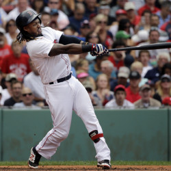 Hanley Ramirez, a strong candidate for American League Player of the Month for September, has never played in the World Series. He and the Red Sox are making a push to get there this year.