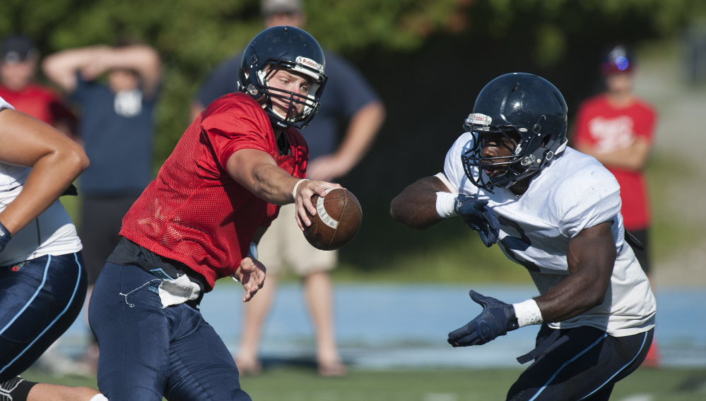 Dan Collins, who won a quarterback duel in preseason, and running back Nigel Beckford will be vital for UMaine.