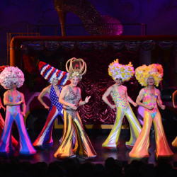 "A scene from ""Priscilla, Queen of the Desert"" at Ogunquit Playhouse. Photo by Gary Ng"