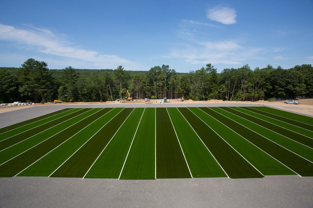 """Massabesic High School in Waterboro got a new turf field this summer. """"We did a healthy amount of research and worked through the details and our needs and the alternatives. I feel we came up with the best product for our facility,"""" Brendan Scully, Massabesic's athletic director."""