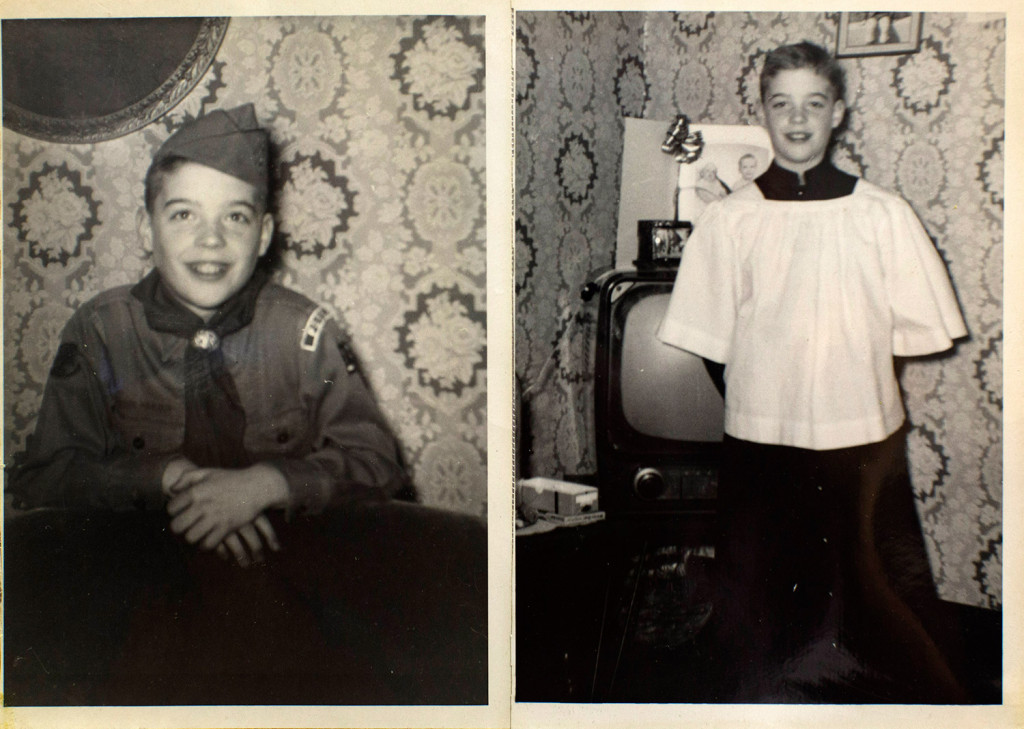 Childhood pictures of Lawrence Gray, who was abused beginning in 1958 by Fr. James Vallely. Attorney Mitchell Garabedian held a press conference on Monday to announce a settlement with the Diocese of Portland.