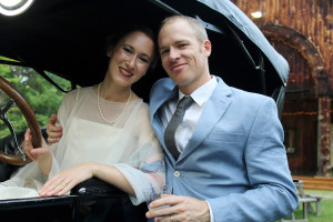Deertrees Theatre celebrated its 80th year with a 1930s-themed anniversary reception and variety show attended by 130 supporters. Emily Rosenberg, sitting in a 1923 Model T Ford with her husband, Christopher Ainslie, a professional opera singer, attended the event.