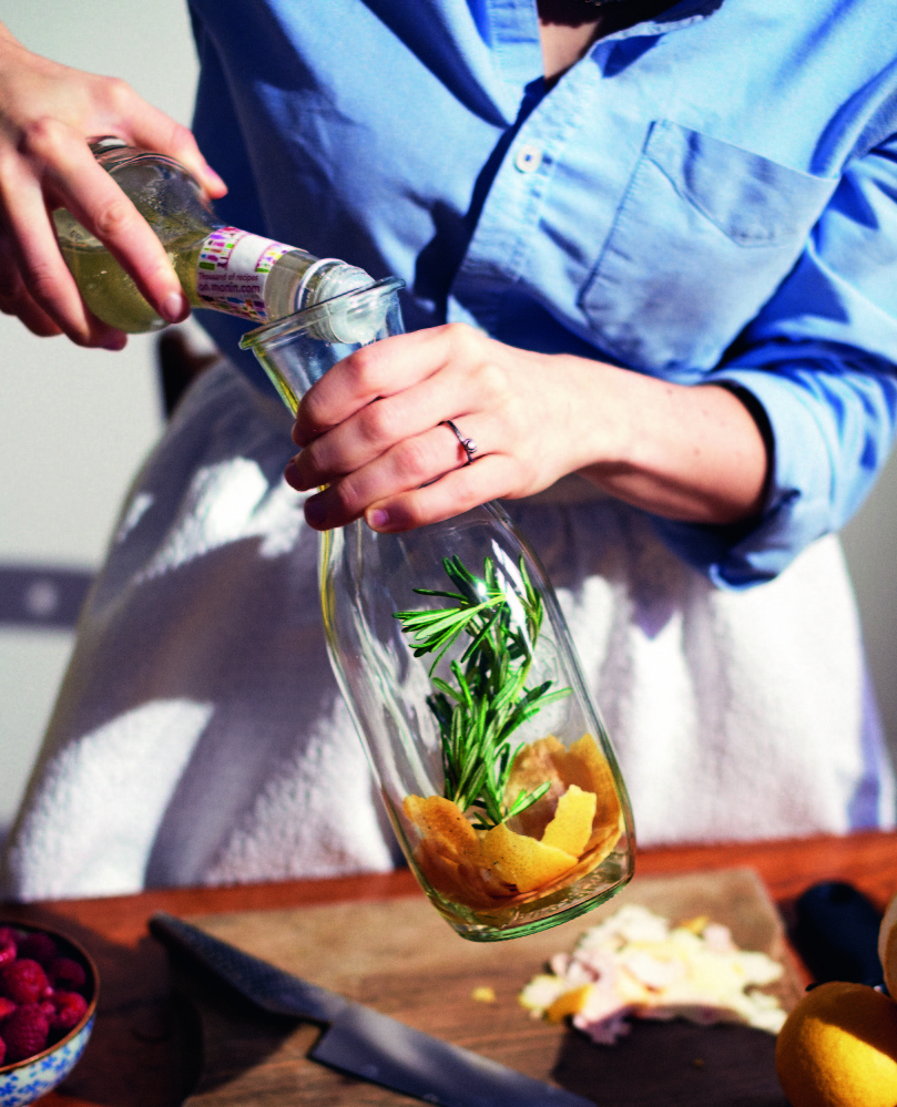 It can be a bit of work preparing the infusion for Grapefruit and Rosemary Gin with Ginger Ale, but it's well worth the effort.