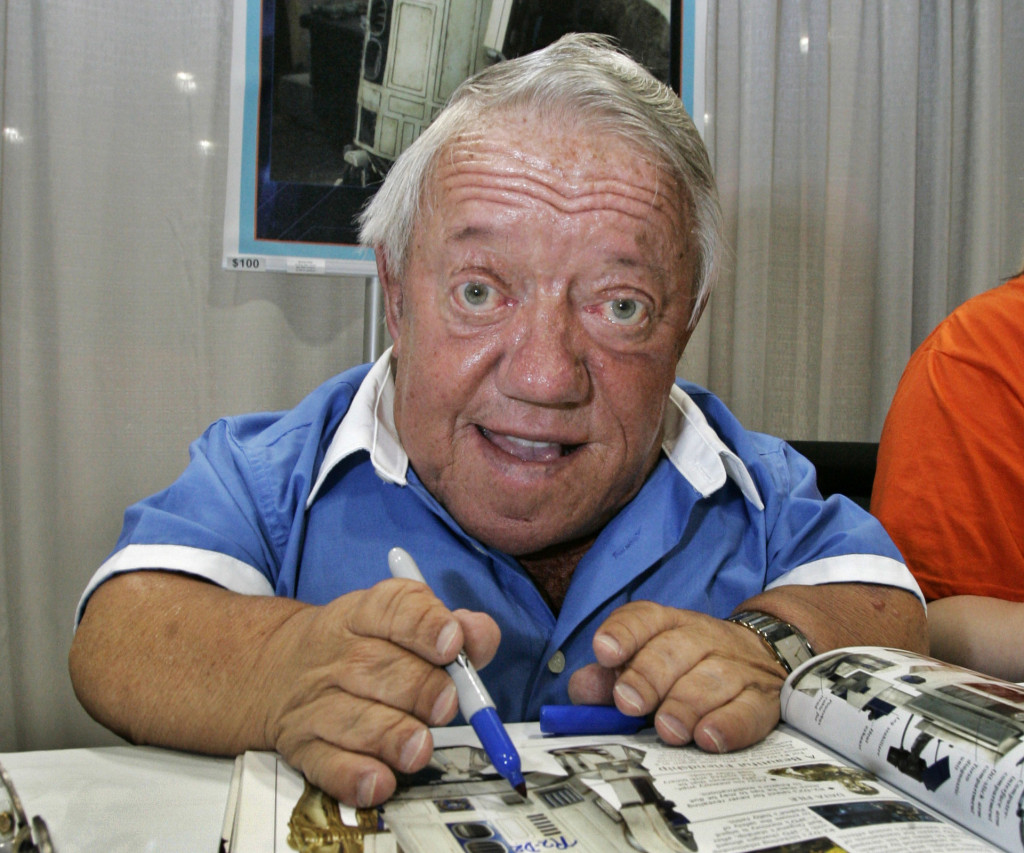 Actor Kenny Baker, who portrayed R2-D2 in the
