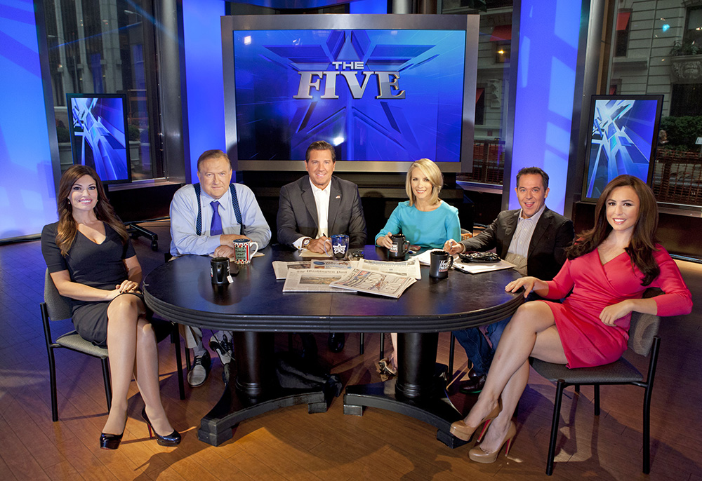 """Co-hosts of Fox News Channel's """"The Five,"""" from left, Kimberly Guilfoyle, Bob Beckel, Eric Bolling, Dana Perino, Greg Gutfeld and Andrea Tantaros. At the time this photo was taken, In 2013, """"The Five"""" had emerged as Fox's second most popular show, behind only Bill O'Reilly. Carlo Allegri/Invision/AP"""