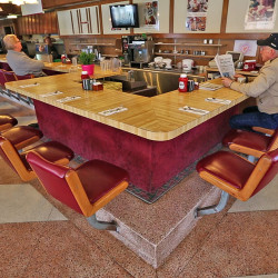 Customers sit at the counter at the Howard Johnson Restaurant in Bangor in this April 2015 photo.Robert F. Bukaty/Associated Press
