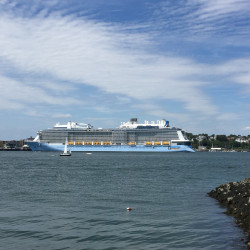 The Anthem of the Seas is docked in Portland on Sunday.