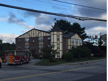 The Olde English Village apartment complex is located at Westbrook Street and Western Avenue in South Portland. Courtesy WCSH TV