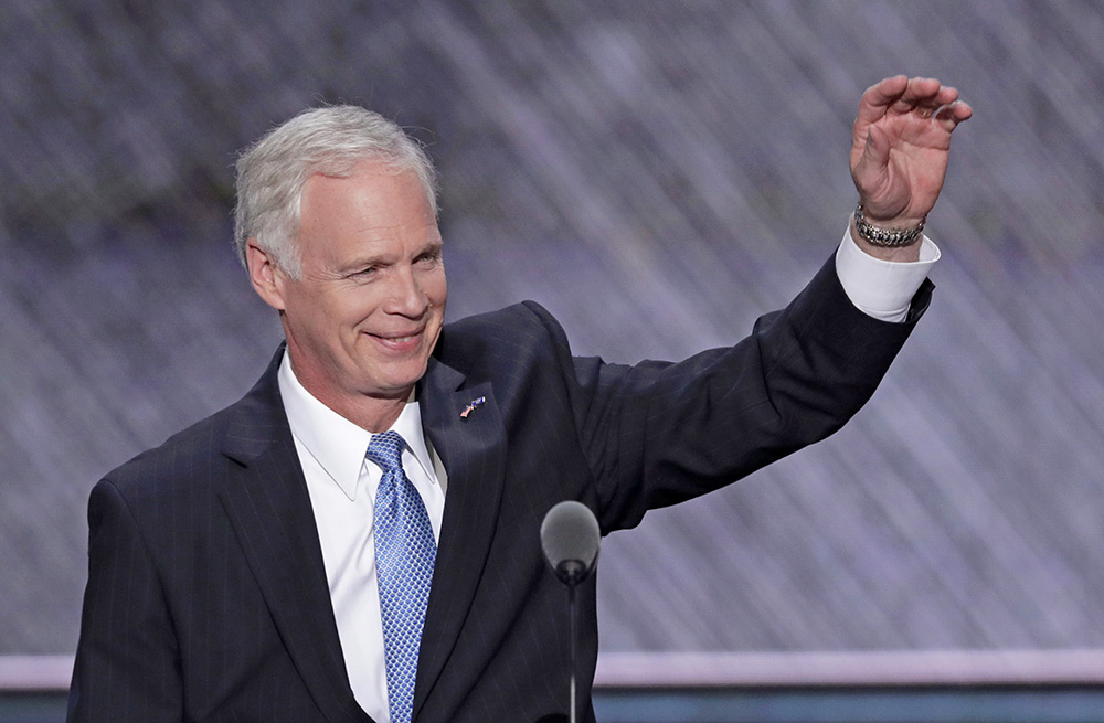 Sen. Ron Johnson, R-Wis., who is running against Democratic Senate candidate Russ Feingold in the November election, has said he supports but does not endorse Donald Trump. Scott Applewhite / Associated Press