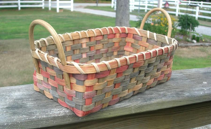 Basket Weaving Dyed Reed : Shaker village offers traditional craft work s keep