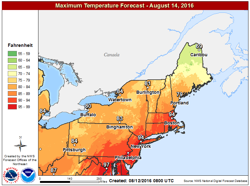 Warmer air moves north for Sunday