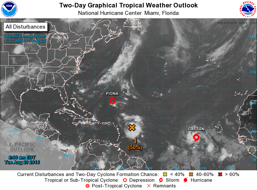 Three tropical systems including tropical storm Gaston are in the Atlantic Basin