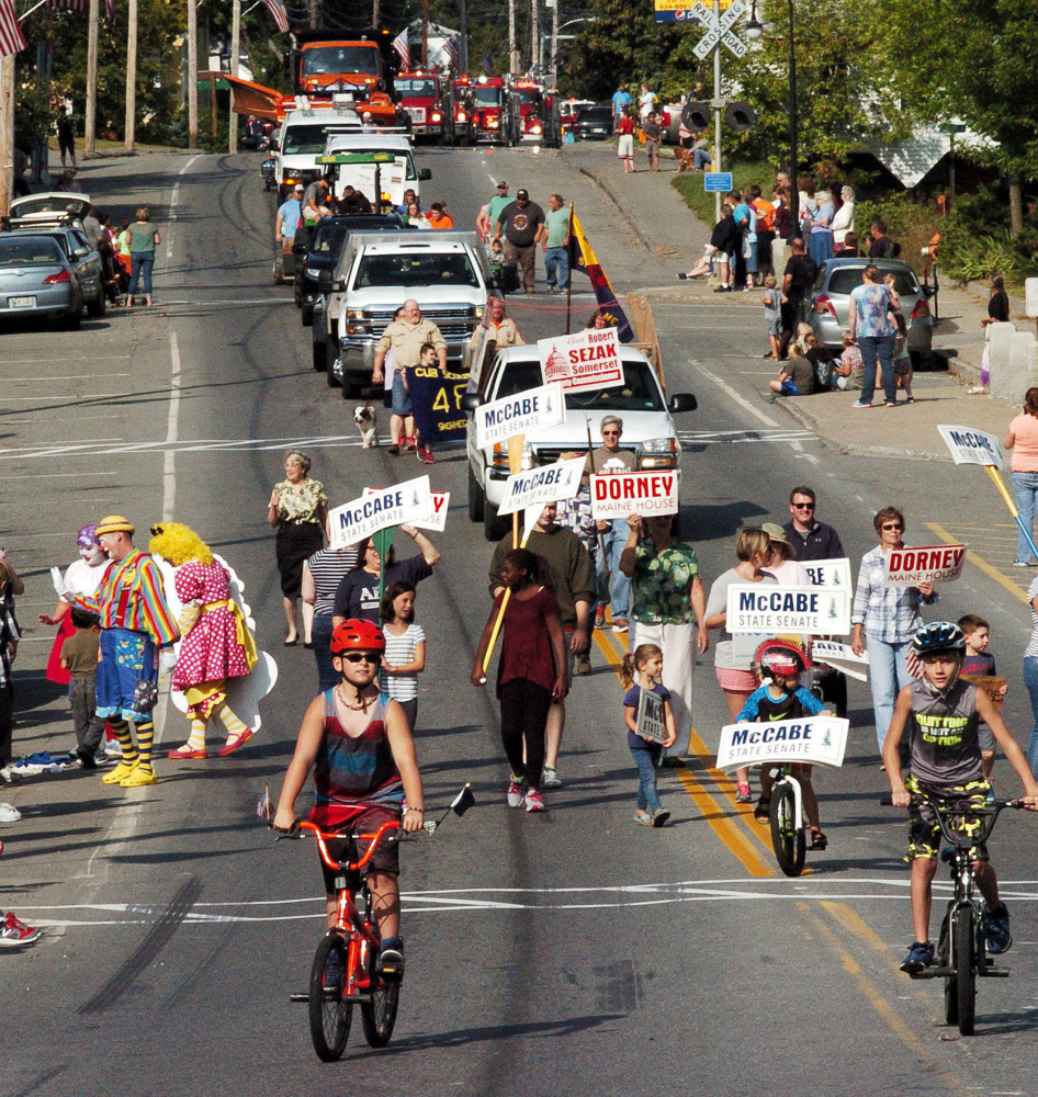 Clowns, trucks, go-carts, kids, animals, adults and politicians make their way down Main Street in Norridgewock for the annual Oosoola Days parade.